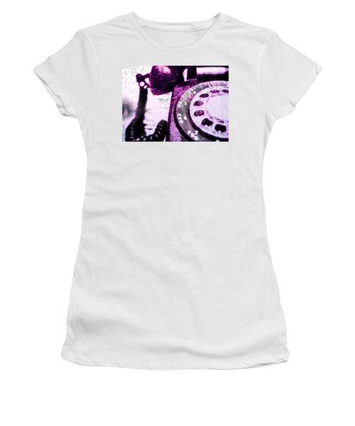 Purple Rotary Phone Women's T-Shirt