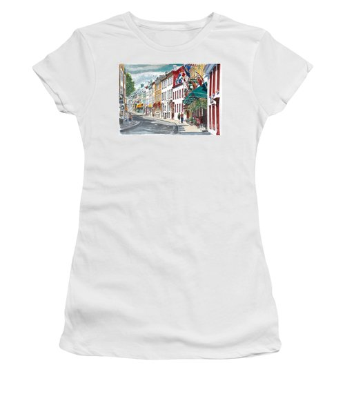 Quebec Old City Canada Women's T-Shirt