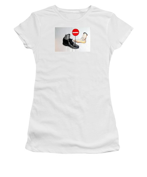 Women's T-Shirt (Junior Cut) featuring the painting Quo Vadis by Lazaro Hurtado