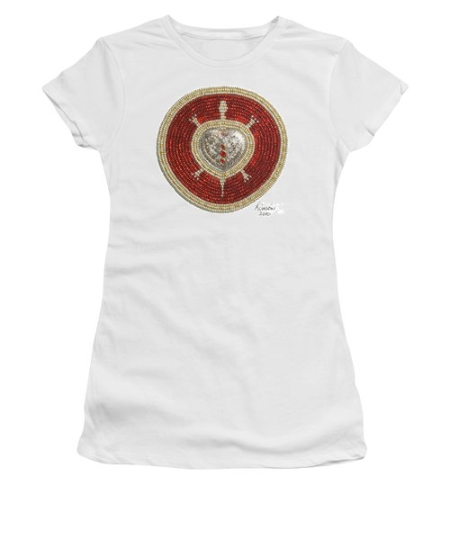Silver And Gold Heart Turtle Women's T-Shirt