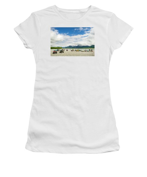 Rafters On The Shores Of Alsek River Women's T-Shirt