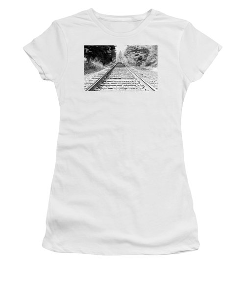 Railroad Tracks Women's T-Shirt (Athletic Fit)