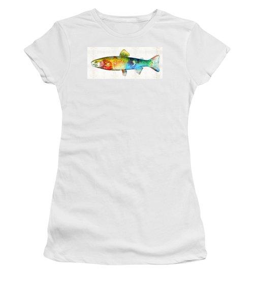 Rainbow Trout Art By Sharon Cummings Women's T-Shirt