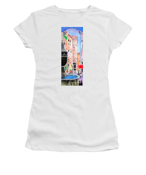 Raining In St-paul De Vence Women's T-Shirt