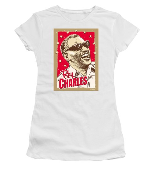 Ray Charles Pop Art Women's T-Shirt (Athletic Fit)