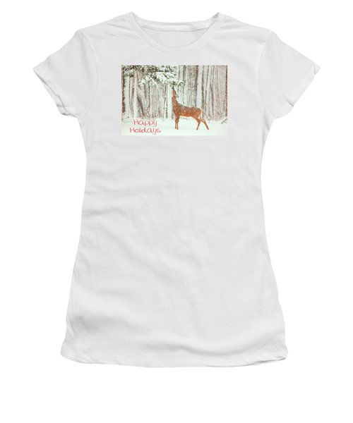 Reach For It Happy Holidays Women's T-Shirt