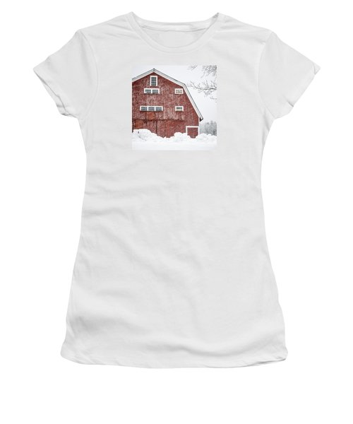 Red Barn Whiteout Women's T-Shirt