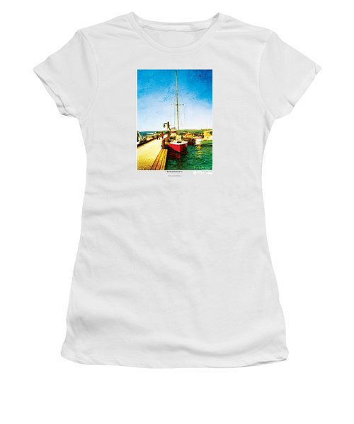 Red Boat Women's T-Shirt (Junior Cut) by Kenneth De Tore