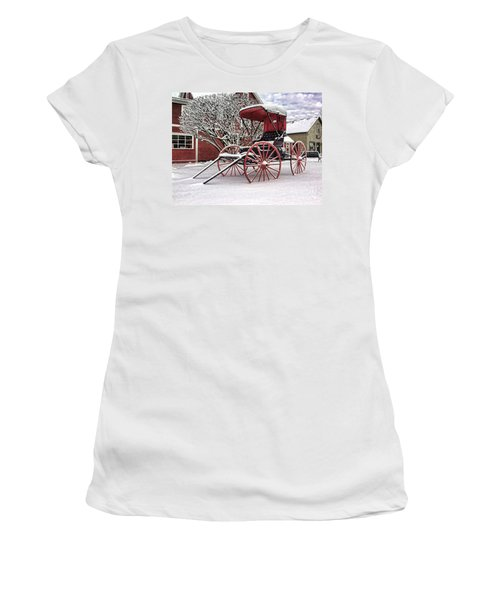 Red Buggy At Olmsted Falls - 1 Women's T-Shirt
