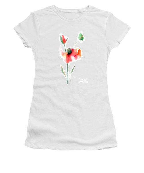 Red Flowers Women's T-Shirt (Athletic Fit)