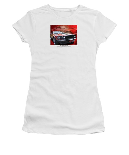 Boss Mustang Women's T-Shirt (Junior Cut) by Kenneth De Tore
