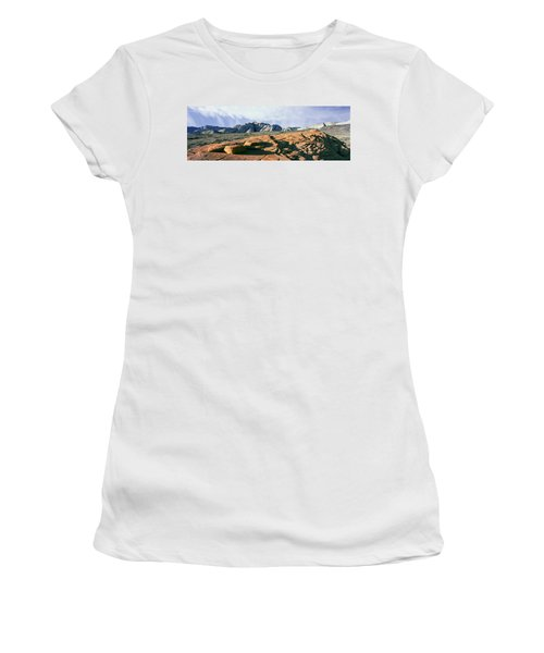 Red Petrified Sand Dunes White Navajo Women's T-Shirt