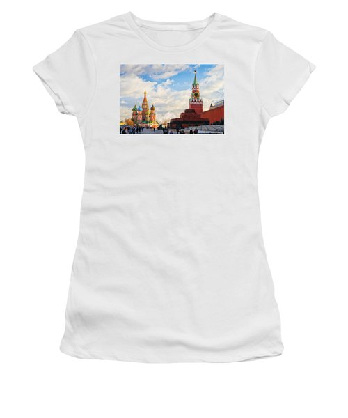 Red Square Of Moscow - Featured 3 Women's T-Shirt (Athletic Fit)