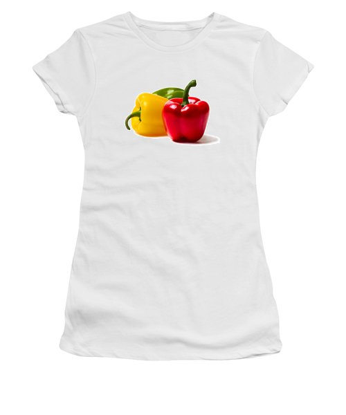 Red Sweet Pepper - Square Women's T-Shirt (Junior Cut) by Alexander Senin
