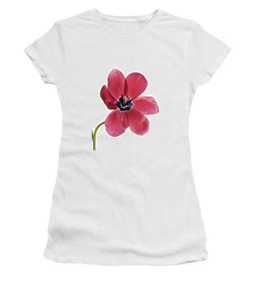 Red Transparent Tulip Women's T-Shirt