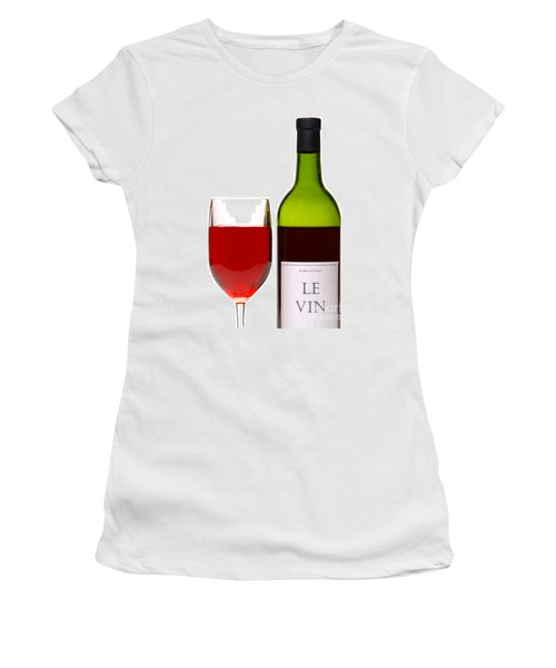 Red Wine And Bottle Women's T-Shirt