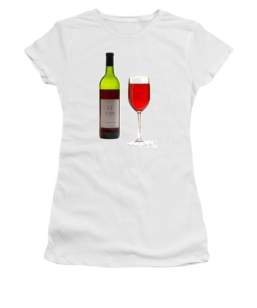 Red Wine Bottle And Glass Women's T-Shirt