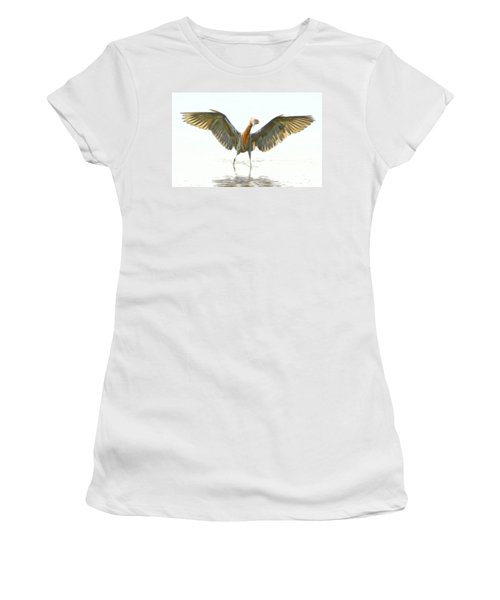 Women's T-Shirt (Junior Cut) featuring the digital art Reddish Egret 2 by William Horden