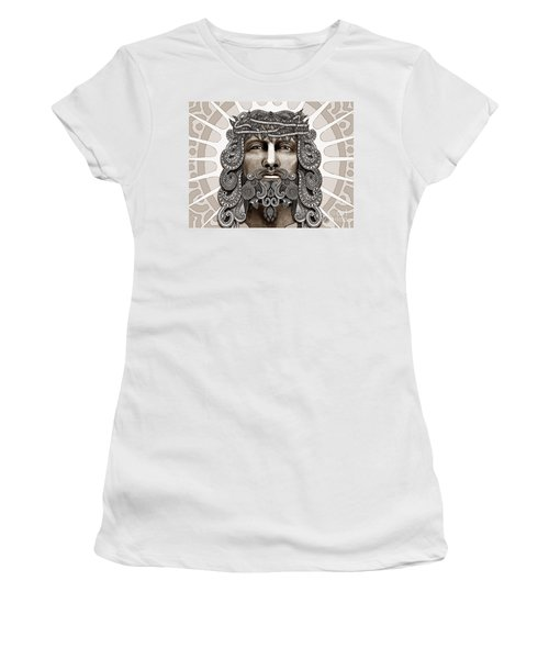 Redeemer - Modern Jesus Iconography - Copyrighted Women's T-Shirt