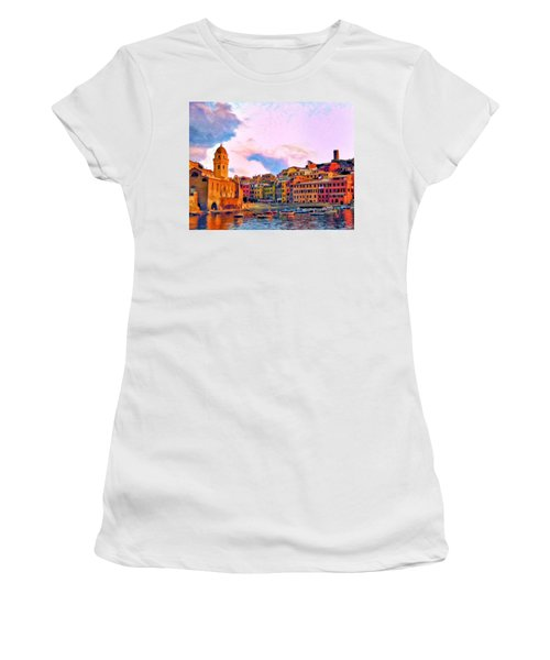 Relaxing Around Vernazza Women's T-Shirt (Athletic Fit)