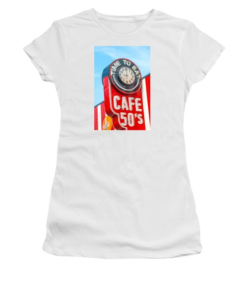 Retro Cafe Women's T-Shirt (Athletic Fit)