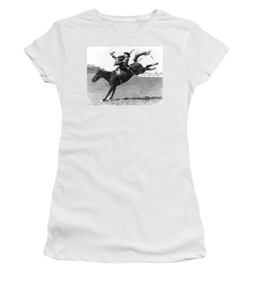 Riding A Bucking Bronco Women's T-Shirt