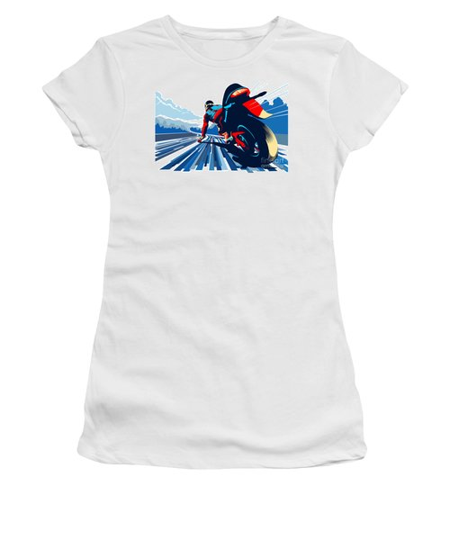 Riding On The Edge Women's T-Shirt (Athletic Fit)