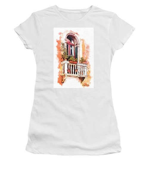 Riposo Women's T-Shirt (Junior Cut) by Greg Collins