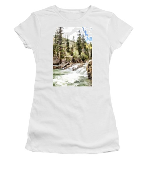 River Boulders Women's T-Shirt (Athletic Fit)