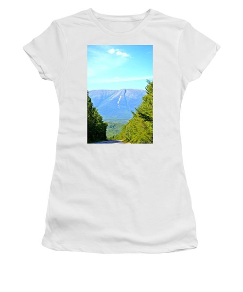 Road To Katahdin Women's T-Shirt (Athletic Fit)