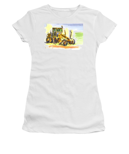 Roadmaster Tractor In Watercolor Women's T-Shirt