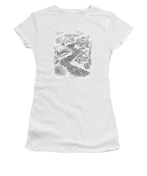 Roadside Ambush Women's T-Shirt (Junior Cut) by Frank Cotham
