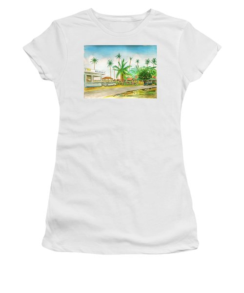 Roadside Food Stands Puerto Rico Women's T-Shirt (Junior Cut) by Frank Hunter