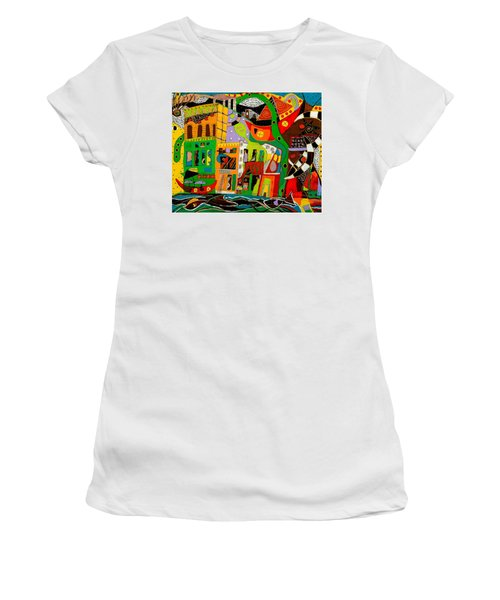 Rockland Women's T-Shirt (Junior Cut) by Clarity Artists