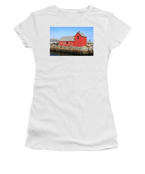 Rockport Motif Number 1 Women's T-Shirt (Athletic Fit)