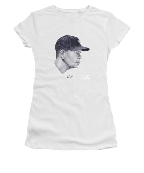Women's T-Shirt (Junior Cut) featuring the painting Rodriguez by Tamir Barkan