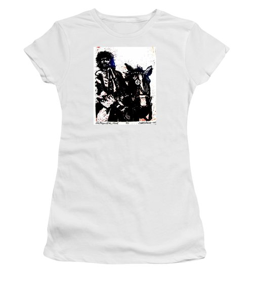 Women's T-Shirt (Junior Cut) featuring the relief Rogue Of The Road by Seth Weaver
