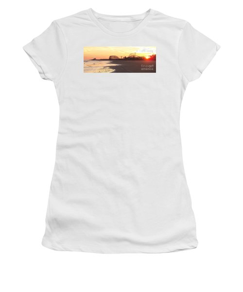 Roller Coaster Sunset Women's T-Shirt (Athletic Fit)