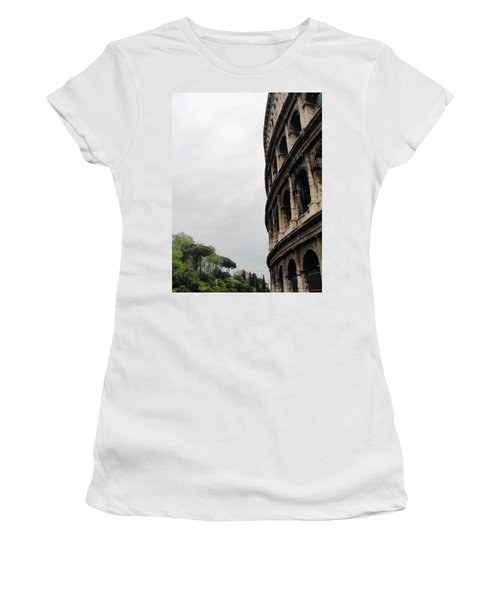 Women's T-Shirt (Junior Cut) featuring the photograph Roman Coliseum by Tiffany Erdman