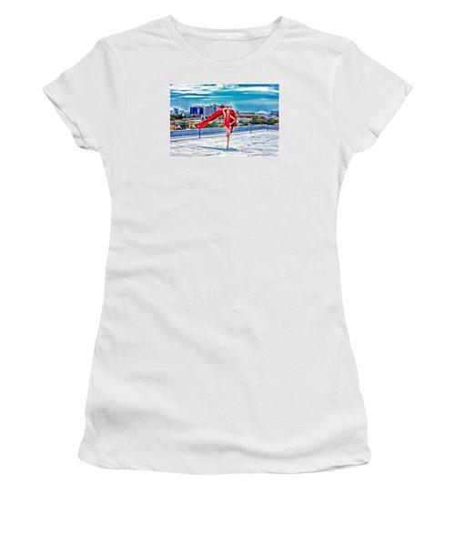 Roof Top Women's T-Shirt (Junior Cut) by Gregory Worsham