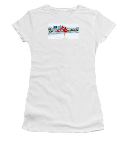 Roof Top II Women's T-Shirt (Junior Cut) by Gregory Worsham