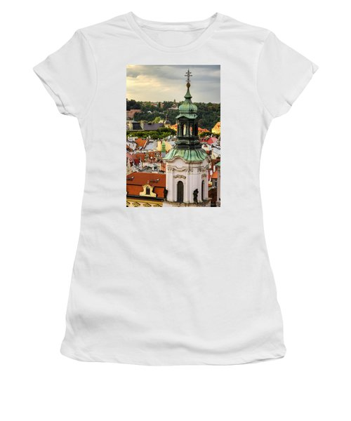 Rooftops Of Prague 1 Women's T-Shirt (Athletic Fit)