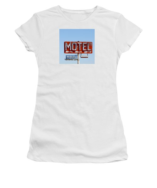 Route 66 Motel Sign Women's T-Shirt (Athletic Fit)