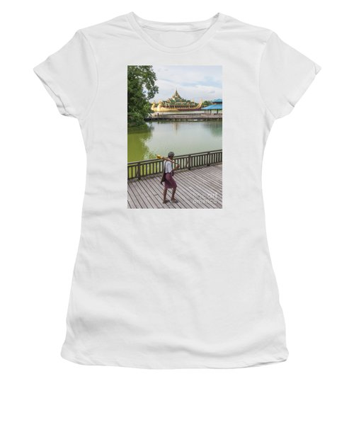 Royal Barge In Yangon Myanmar  Women's T-Shirt (Athletic Fit)