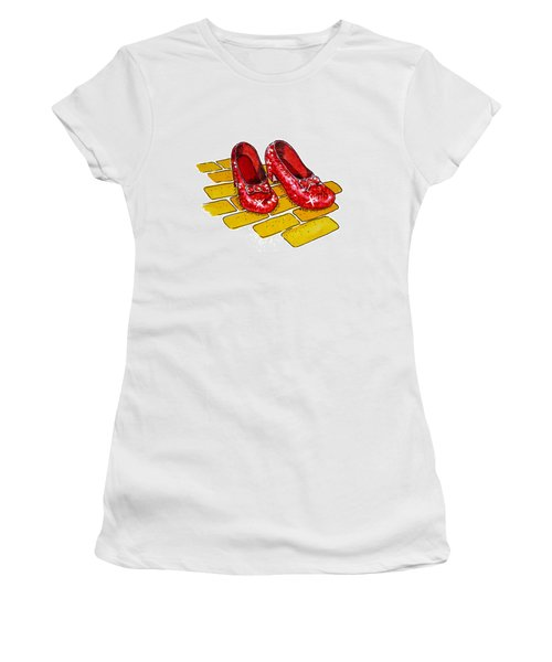Ruby Slippers The Wizard Of Oz  Women's T-Shirt