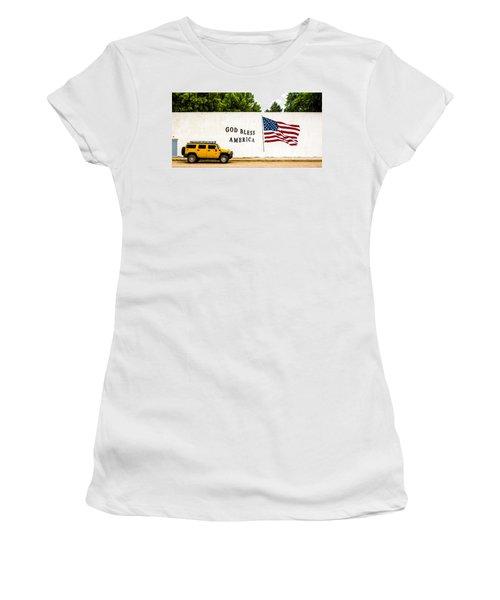Rural America Wall Mural Women's T-Shirt (Junior Cut) by Bill Kesler