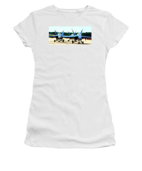 Rush Hour For Angels Women's T-Shirt (Junior Cut) by Kevin Fortier