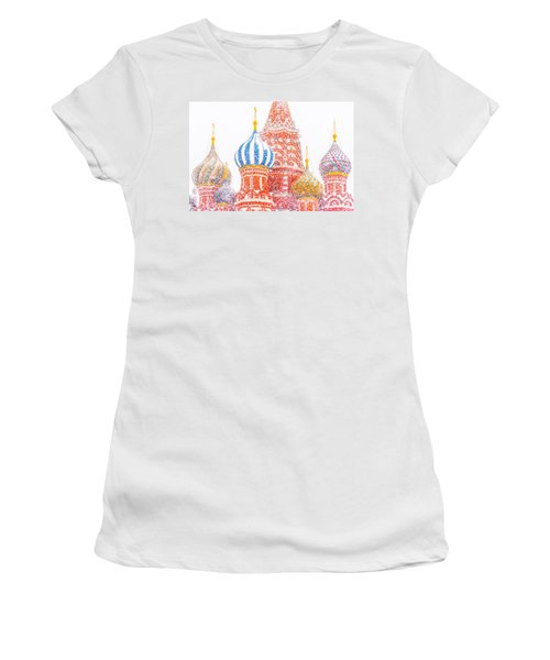 Russian Winter Women's T-Shirt (Junior Cut) by Alexander Senin