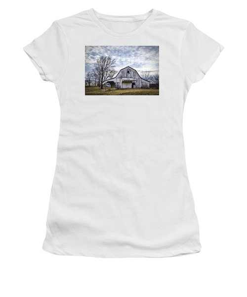 Rustic White Barn Women's T-Shirt (Athletic Fit)