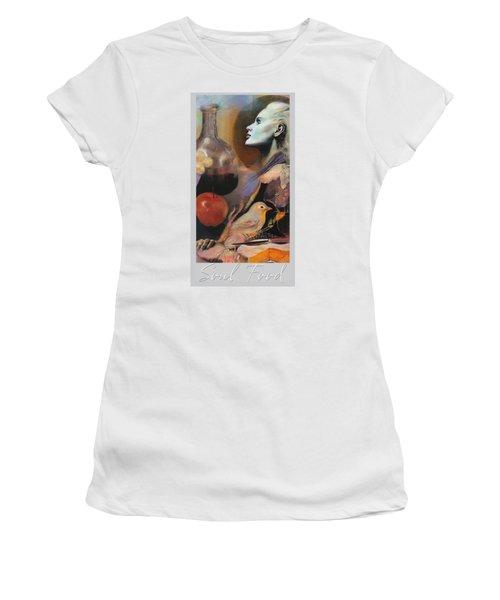 Soul Food - With Title And Light Border Women's T-Shirt (Junior Cut) by Brooks Garten Hauschild